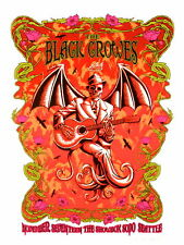 The Black Crowes Concert Poster Justin Hampton S/N Seattle 2009