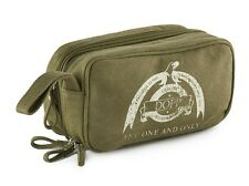 Dopp - Men's - NWT$45 - Green Logo Cotton Canvas Travel Toiletry Bag - Dopp Kit