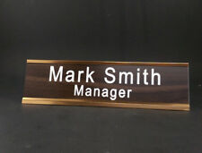 "Personalized 8"" x 2"" Desktop Name Plate Sign With Holder. Novelty Desk Sign."
