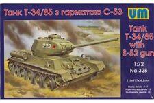 UNIMODELS 328 1/72 Tank T-34/85 with S-53 gun