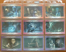 CORPSE BRIDE..45 CARD BASE/18 CARD GOLD CHASE SET..ENSKY JAPAN 2005..TIM BURTON