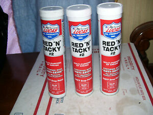 LUCAS # 10005  RED N TACKY GREASE   THREE- 14 OZ CARTRIDGES