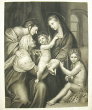 the Virgin of the Impannata Madonna dell engraving 18th-19th after Raphaël 33cm