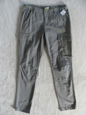 Da-Nang Surplus Cotton Cargo Pants-Embroidery/Cut Outs-Olive Green -Size XS NWT