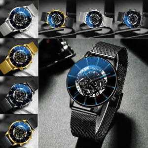 Army Military Mens Stainless Steel Wrist Watch Quartz Date Analog Sports Watches