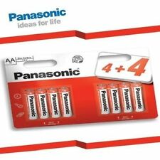 8Pcs PANASONIC AA ZINC POWER CARBON BATTERIES 1.5v LR6 MN1500