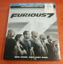 Furious 7 Blu-ray Vin Diesel Paul Walker Dwayne The Rock Johnson Ludacris