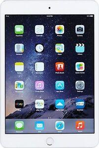 Apple iPad Mini 3  Tablet 128GB WiFi Only - Silver/White (MGP42LLA)