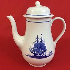 Wedgwood American Clipper Coffee Pot Blue White