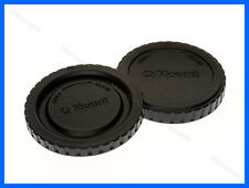 Lens Cap Set Pentax Q Mount Mirrorless Camera Body + Rear Cap Q Q7 Q10 Q-S1