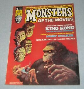 1974 MARVEL COMICS MONSTERS of the MOVIES # 1 MAGAZINE KING KONG NIGHT STALKER