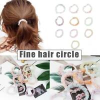 Women Hair Scrunchies Glitter Elastic Hair Bands Women Hair Ropes Ties T1L7