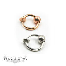 FAKE setto nasale Piercing clip on ring CZ Multi Cristalli anello al naso ORO ARGENTO