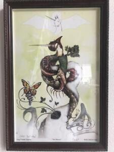 Signed and Inscribed - Greg Craola Simkins - Beacon - Hand Embellished Print.
