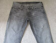CITIZENS OF HUMANITY Simone #105 Low Waist Flair Gray Destroyed Jeans Women's 30