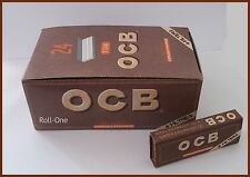 OCB VIRGIN ROLLING PAPERS SIZE 1 1/4 UNBLEACHED 24 BOOKLETS + FILTERS FULL BOX