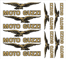 FE kit MOTO GUZZI Stickers Aufkleber set GOLD SILBER WEISS /921