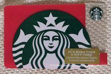 Starbucks 2018 Red Siren Green Glitter Gift Card