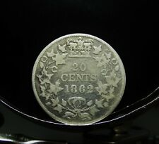 1862  Twenty Cent New Brunswick Silver Coin.  -  .20¢