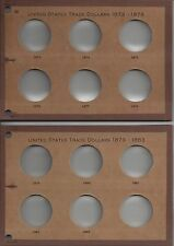 1873-1883 TRADE DOLLAR Designed for proofs only 12 opening 2 Meghrig  boards
