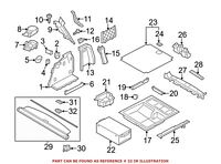 For BMW Genuine Cargo Cover Handle Rear Lower 51479138054