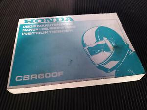 Honda CBR600F Uso e manutenzione Instruktieboek manual del propietario CBR 600 F