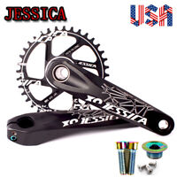 GXP 170mm 32-38T 6mm Narrow Wide Teeth MTB Bike Chainring Crankset Sprocket CNC