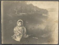 Vintage Photo Postcard Unusual Boy Floating on Water Arcade  708374