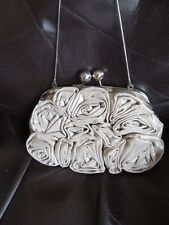 juno cream shimmer cotton rose occassin bag/weddding/races