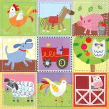 Farm Party Paper Napkins - Pack Of 16 - 2 Ply