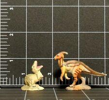 Vintage Ucs Amblin 1997 Metal Miniature Figure Dinosaur lot 2 Parasaurolophus