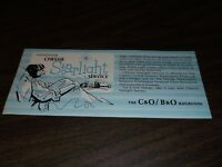 1960's C&O/B&O CHESAPEAKE & OHIO/BALTIMORE & OHIO CHESSIE STARLIGHT BROCHURE