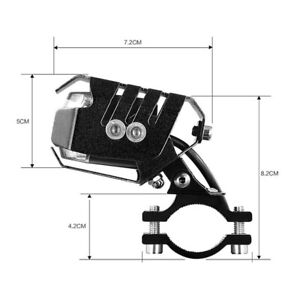 1X Motorcycle ATV LED Spot Fog Shooter Light W/Handle Bar Mounting Mount Bracket