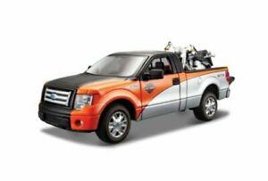 Ford F-150 STX + Harley Davidson FLST Fat Boy 2000 1:24 Model MAISTO