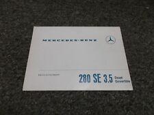 Repair Manuals & Literature for Mercedes-Benz 280SE   eBay on