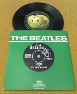 "BEATLES  "" LET IT BE "" SUPERB NEAR MINT  '76 UK RE-ISSUE IN PICTURE SLEEVE"