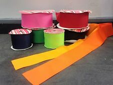 2-1/4 Inch Wide Plain Colors HairBow Center Grosgrain Ribbon Sold By The Yard