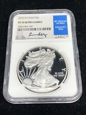 2015 W Silver American Eagle NGC PF70 Ultra Cameo Edmund C. Moy Hand Signed