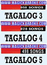 MAGIC SING KARAOKE MIC 3 TAGALOG SONG CHIPS TAG-958 SONGS-TAG4-878SONGS-TAG5-498