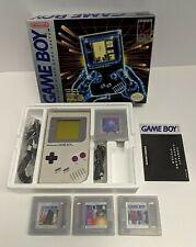 1989 vtg. original Nintendo Gameboy Compact Video System DMG-01, +3 other games