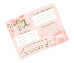 Set of 24 bridal shower party wedding wishes cards guest book alternative