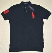 New S M L XL XXL POLO RALPH LAUREN Men Classic Fit Big Pony polo shirt top black