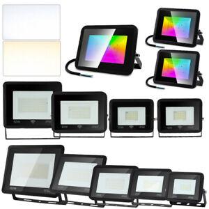 LED Fluter mit Bewegungsmelder Außen Scheinwerfer IP66 RGB Strahler 10W - 100W