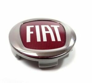 Genuine Fiat Ducato 250 60mm Alloy Wheel Center Cap Red Logo