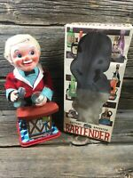Vintage Tin Toy Battery Operated Bartender Nomura Toys Co. Japan