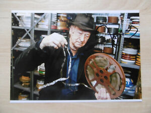Jonas Mekas signed 5x7 inch photo autograph
