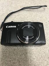 Black Canon PowerShot SX280 HS 12.1MP Digital Camera - Black With Case