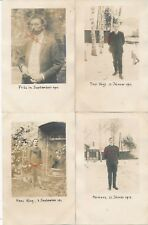 Nr.19424 4x Privat Foto PK schöne Männer   um 1914