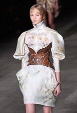 NWT Alexander McQueen Spring 2009 Runway Rare Floral Print Silk Blouse, Size 40