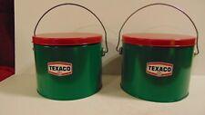 TEXACO Gas Station Garage PARTS BUCKET OIL Can Gasoline Motor 2 Decals Red Star
